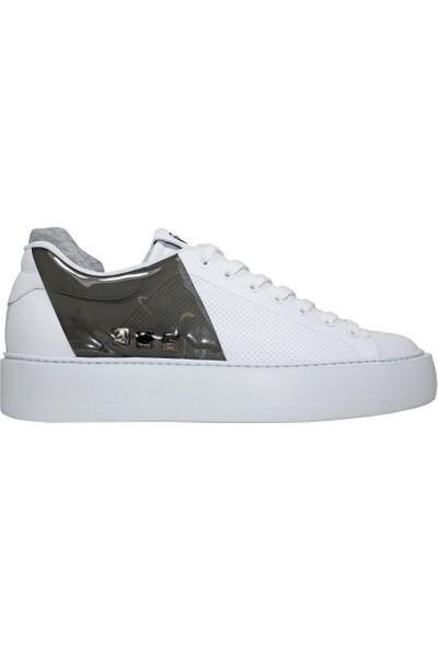 Cesare Paciotti TTSU1FTRF Beyaz - Siyah Erkek Ayakkabı