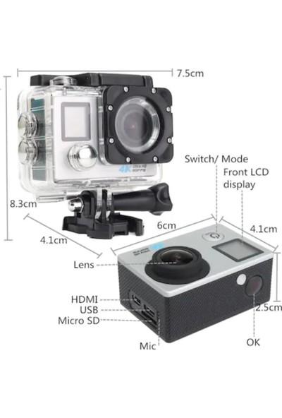Kingboss SL-D215 170 Derece Kumandalı 4K Ultra Hd Wifi Aksiyon Kamerası