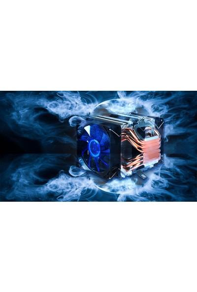 Snowman X6 6 Bakır Borulu Cpu Soğutucu Fan Mavi