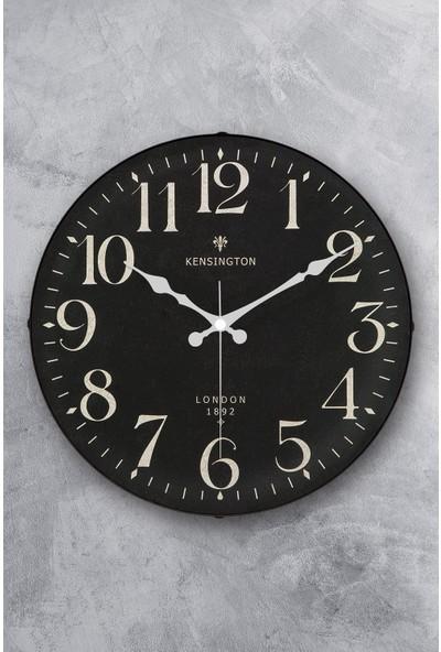 Emores 36 cm Gerçek Bombe Cam Akar Saniye Sessiz Mekanizma Dekoratif Duvar Saati