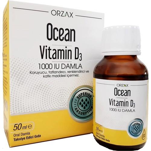Ocean Vitamin D3 1000 Iu 50 Ml Damla Fiyati Taksit Secenekleri