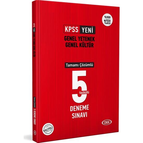 Data Yayınları KPSS Genel Yetenek Genel Kültür Tamamı Çözümlü 5 Deneme Sınavı