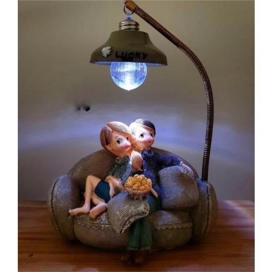 Home Işıklı Çift Biblo