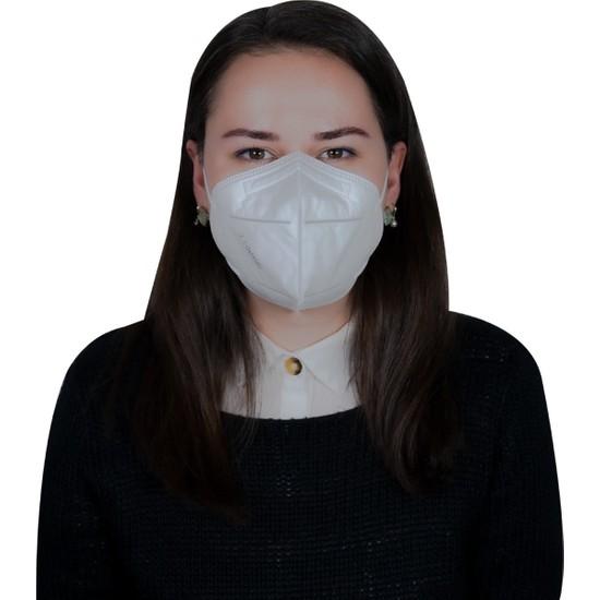 3nnn N95 / Ffp2 Full Ultrasonic Beyaz Maske ( 10 Adet )