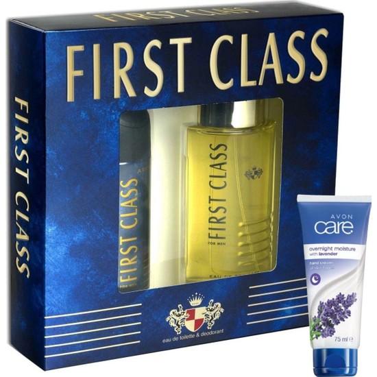 First Class Set Erkek Parfüm Edt 100 ml + Deodorant 150 ml 1 Adet + 1 Adet Lavanta El Kremi 75 ml
