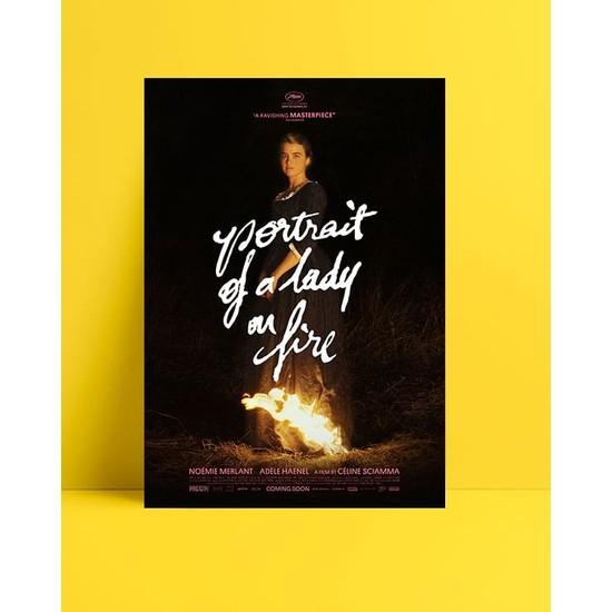 Postercim Alev Almış Bir Genç Kızın Portresi Kuşe Kağıt