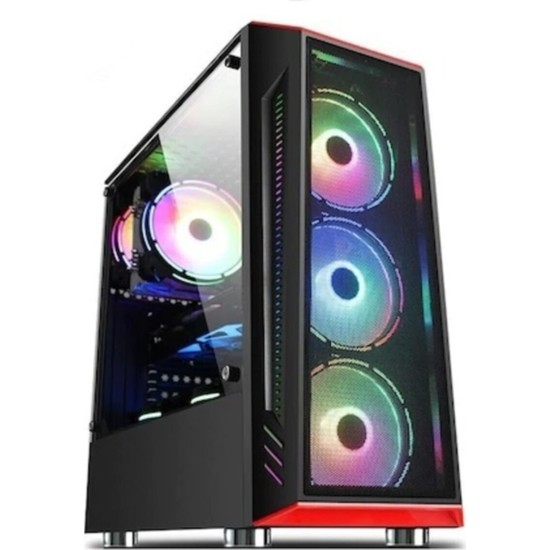 Gametech Redline 4X120MM Fan Gaming Oyuncu Bilgisayar Kasası