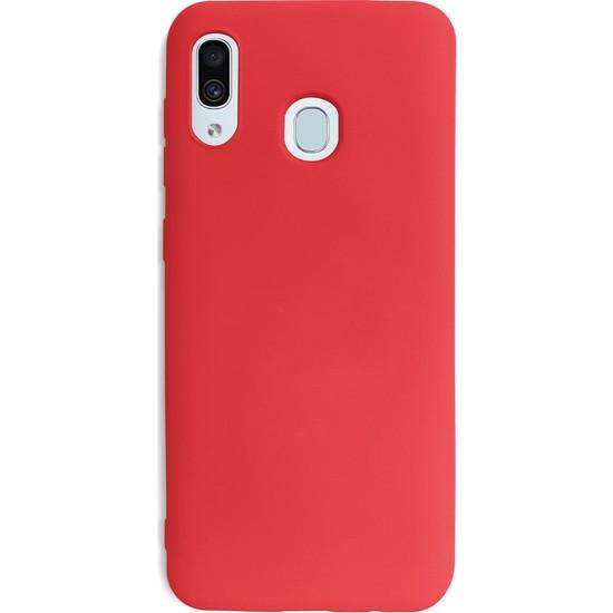 Case Markt Samsung Galaxy A20 Silikon Telefon Kılıfı Mikro Fiber Iç Yüzey