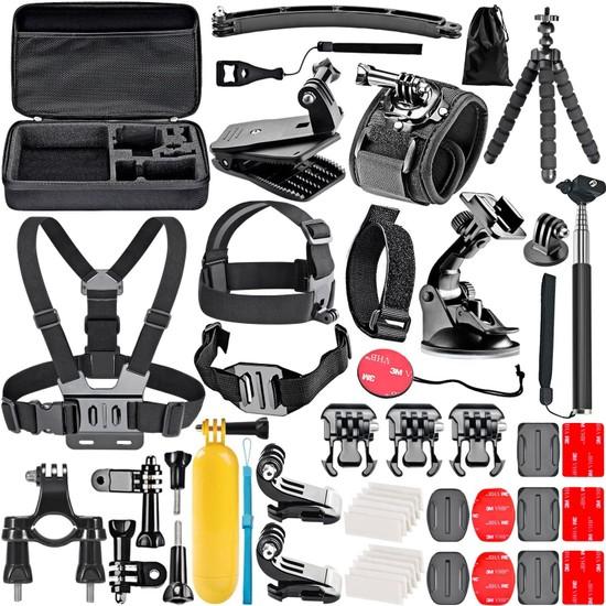 Trendfone Gopro Aksiyon Kameraları Için Aksesuar Seti Ihtiyacınız Olan Herşey Tek Pakette-Büyük Boy Çanta Ile Birlikte