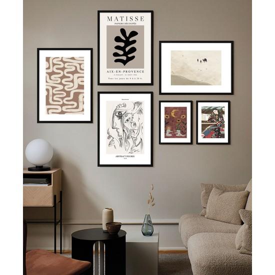 Fabb Home Modern Çerçeveli Poster Tablo Seti (6 Parça)