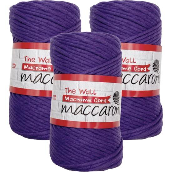 Maccaroni The Wall Macrame 3mm Pamuk Taranabilir Ipi 3'lü Set