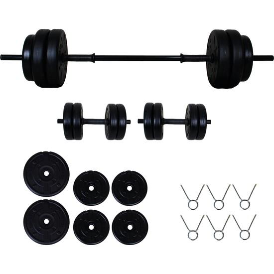 Aydın Sport 25 kg Halter Seti Dambıl Seti ve Fitness Ağırlık Seti