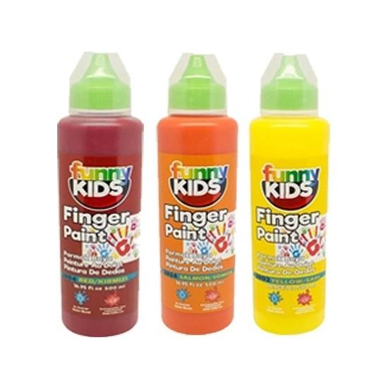 Funny Kids Sıcak Renkler Parmak Boyası 500 cc 3'lü