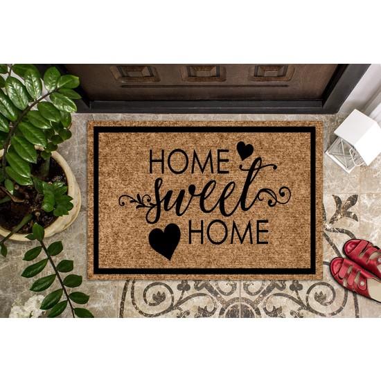 Konsept Art Home Sweet Home Kapı Önü Paspası Koko Paspas