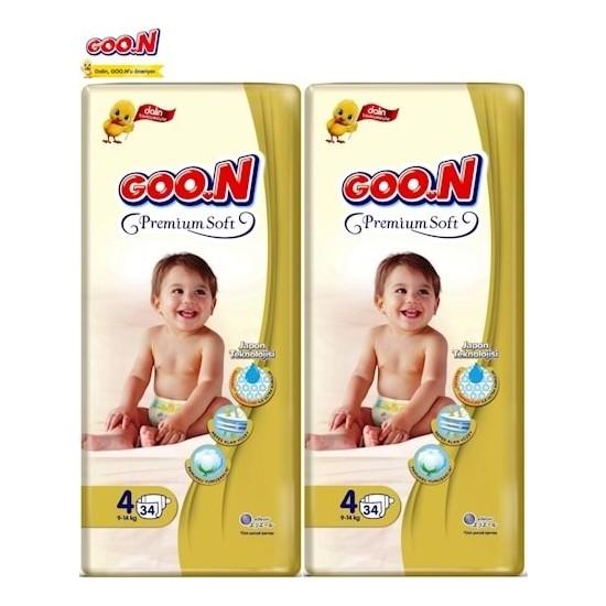 Goon Premium Soft Bebebk Bezi 4 Beden 2X34