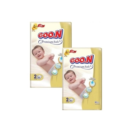 Goon Premium Soft Bebek Bezi 2 Beden 2X58 'li