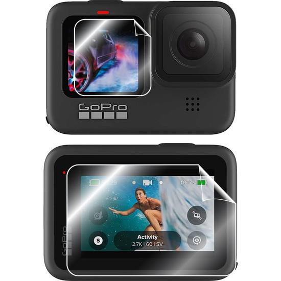 IPG Gopro Hero 10 - Hero 9 Black Aksiyon Kamera Ekran Koruyucusu (2 Adet Ön-1 Adet Arka)