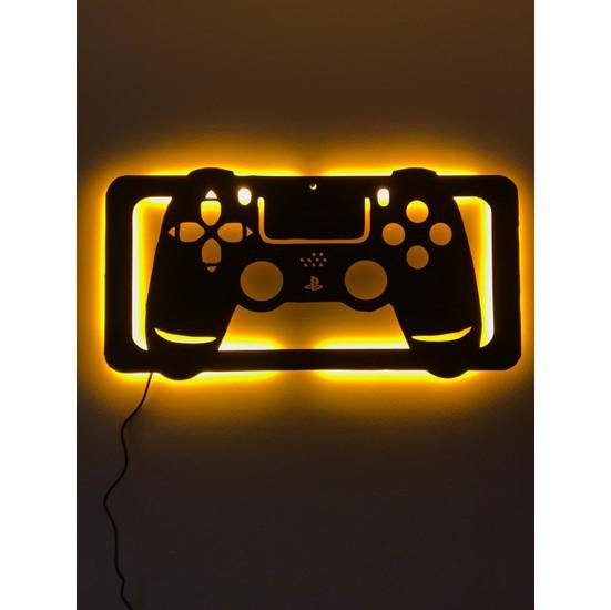 Dekoraven Playstation Konsol Işıklı Tablo