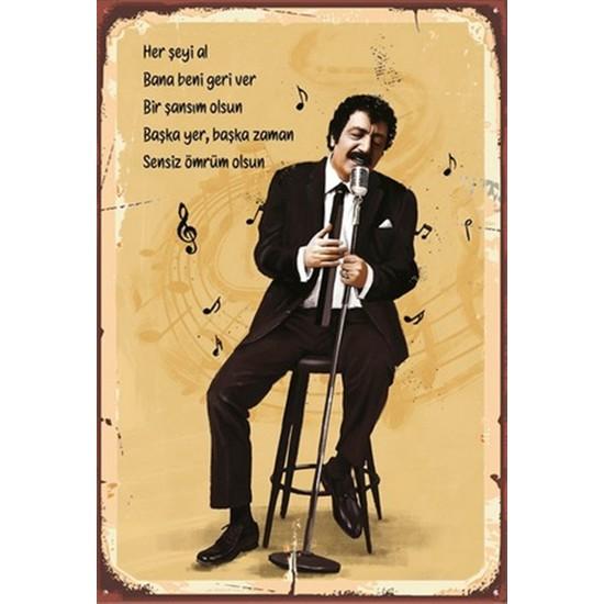 Aldebaran Reklam Müslüm Gürses Ahşap Retro Poster