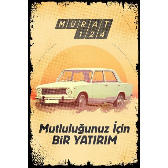 Hayal Poster Murat 124 Retro Ahşap Poster