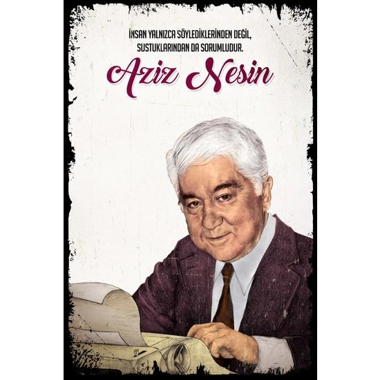 Hayal Poster Aziz Nesin Ahşap Poster