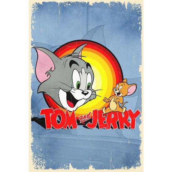 Aldebaran Reklam Tom ve Jerry Retro Ahşap Poster