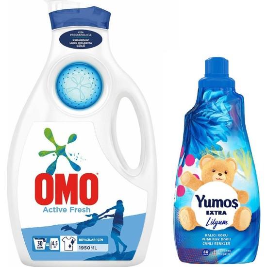 Omo Sıvı 30 Yıkama 1950 ml Active Fresh + Yumos Ext.yumusatıcı 1440 ml Lılyum