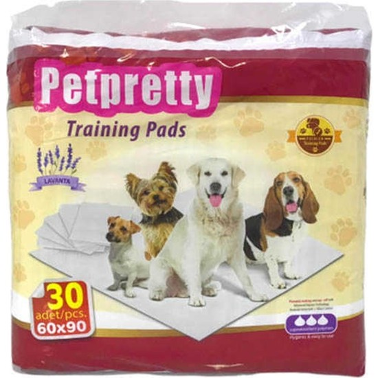 Pet Pretty Training Pads-Köpek Eğitim Çiş Pedi Lavantalı 60X90 30 Lu