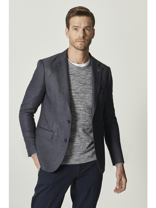 Altınyıldız Classics Slim Fit Dar Kesim Mono Yaka Blazer Ceket