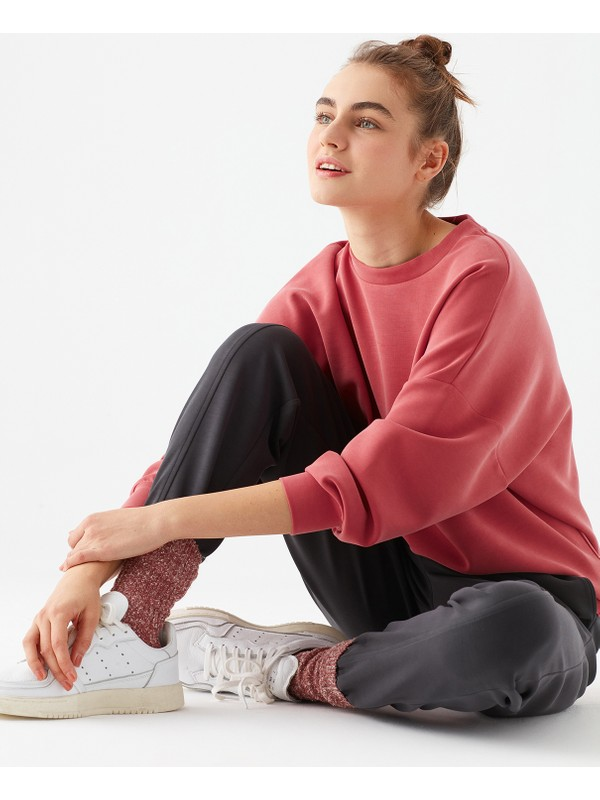 Mavi Kadın Lux Touch Pembe Modal Sweatshirt 168837-33485