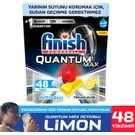 Finish Quantum Max Bulaşık Makinesi Deterjanı 48 Kapsül Limonlu