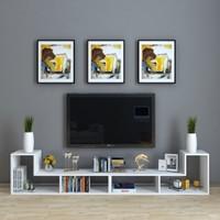 Dekoronya Tetris Çok Amaçlı Fonksiyonel Atlantik Çam Tv Sehpası