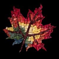 Mozaik Hobi Sonbahar Yaprağı Smalti Mozaik Kiti