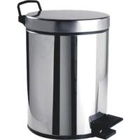 Paslanmaz Metal Pedallı Çöp Kovası 5lt 304