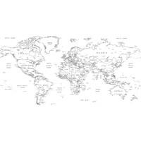 Sihirli Tahta Akıllı Kağıt Dünya Haritası 110 x 56 cm + Silgili Kalem
