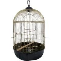 QH Pet Cage Yuvarlak Krom Ø42X77 cm