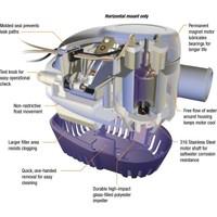 Attwood Sahara 1100GPH Otomatik Sintine Pompası 12V