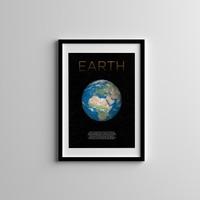 Gian Decor Dekoratif Dünya Gezegen Çerçeveli Tablo