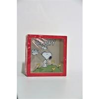 Bbc Sevimli Karakter Snoopy Figürlü Ahşap ve Camlı Tasarımlı Kumbara