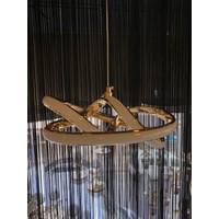 Luna Lighting Modern Luxury Sarkıt LED Gold Ledli Avize