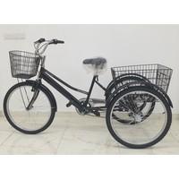 Dorello Siyah Cargo Bisikleti 2960 Üç Tekerlekli Sepetli Yük Bisikleti Pazar Bisikleti Siyah 24 Jant Bisiklet Pazar Bisikleti