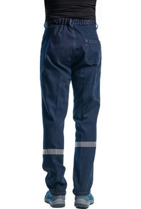 Şensel Reflektörlü Kışlık Kot Pantolon Iş Pantolonu-Iş Elbisesi