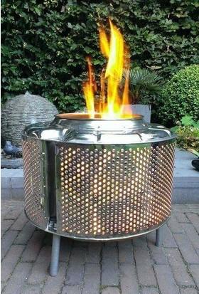 Karadağ Bahçe Şöminesi Ateş Kovası Estetik ve Şık Mekanlarınız Için