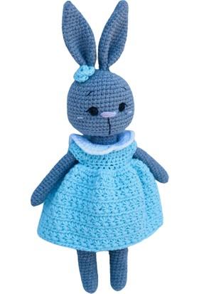 Aysun Yıldız Konbul Amigurumi Örgü Oyuncak Uyku Arkadaşı Tavşan Kız Bebek