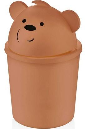 Qlux Hippo Çöp Kovası Kahverengi L-00586