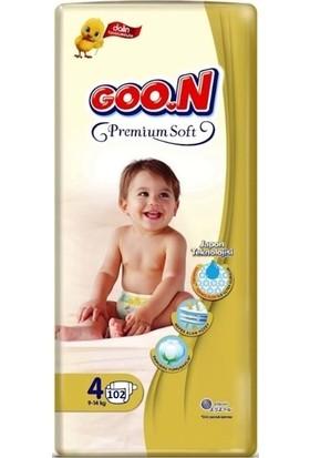 Goon Premium Soft 4 Numara Bebek Bezi 9-14 kg Jumbo Paket 102 Adet