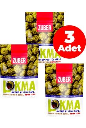Züber Antep Fıstığı Kaplı Kakaolu Meyve Topu 96 gr - 3'lü