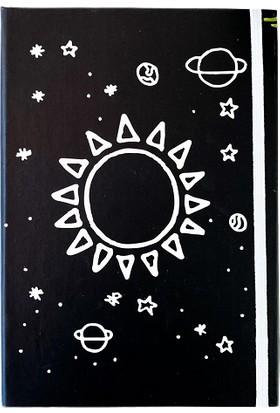Favorim50Ton Güneş Çizim Lastikli Orta Boy Defter