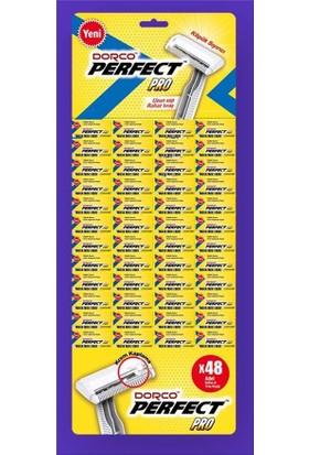 Dorco Tek Bıçaklı Jilet Tıraş Bıçağı Kartela 48'lı