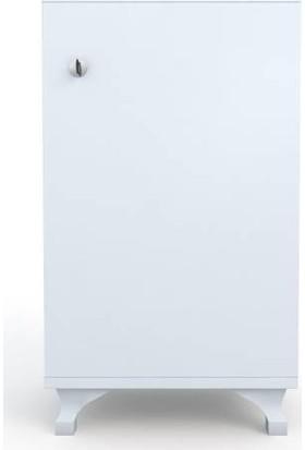 Kenz Life Kilitli Dolap Rana29 Byz 68 x 29 x 29 Banyo Dolabı Ayaklı Mutfak Ofis Kiler Kitaplık Evrak Özel Ebat